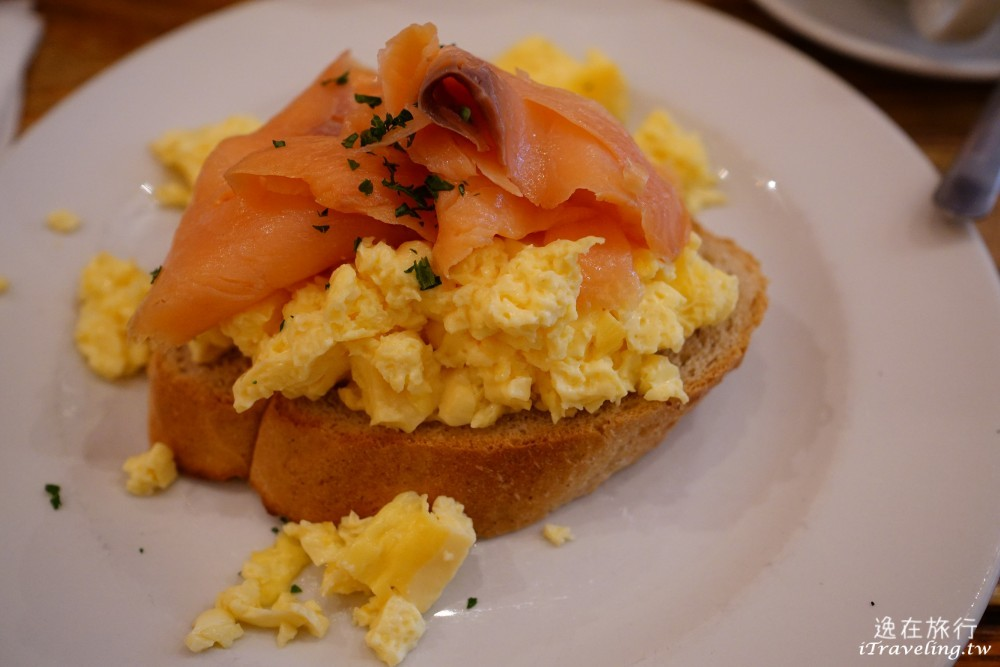 The Elephant House, Scrambled Eggs with Smoked Salmon on Toast